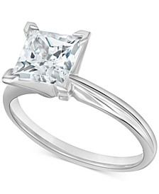 Diamond Princess Solitaire Engagement Ring (2 ct. t.w.) in 14k White Gold