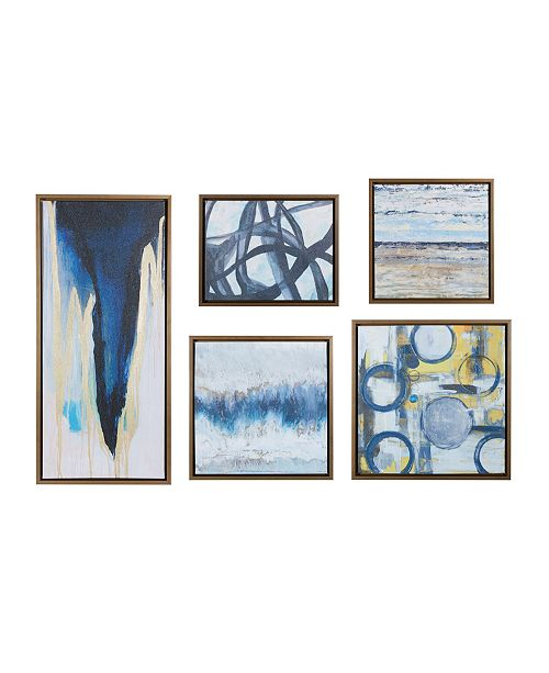 JLA Home Madison Park Blue Bliss Gallery Art, Set of 5