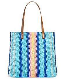 Vertical Stripe Beach Tote, Created for Macy's