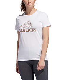 Women's Cotton Metallic Logo T-Shirt