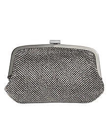 INC Patsy Diamond Mesh Frame Clutch, Created for Macy's