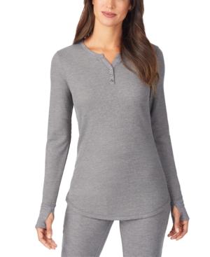 Women's Stretch Thermal Long-Sleeve Split-Neck Top