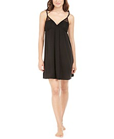 Lace-Trim Strappy Chemise Nightgown