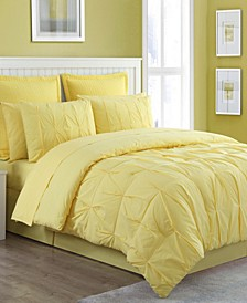 Luna Pintuck 4-Piece Queen Comforter Set