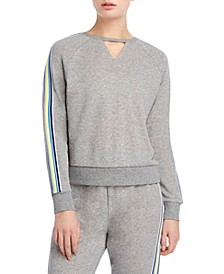Cut Out Stripe Sweatshirt