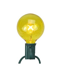 Pack of 25 Yellow G50 Incandescent Christmas Replacement Bulbs