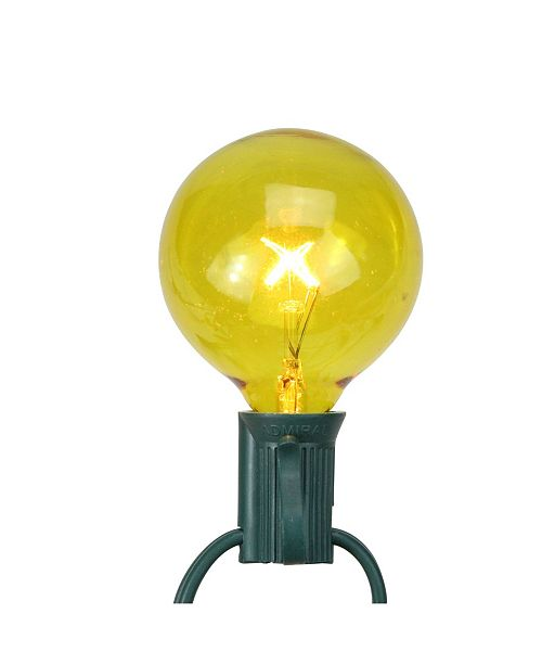 Northlight Pack of 25 Yellow G50 incandescent Christmas Replacement Bulbs