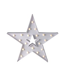 """15"""" Battery Operated LED Lighted Star Christmas Marquee Sign"""
