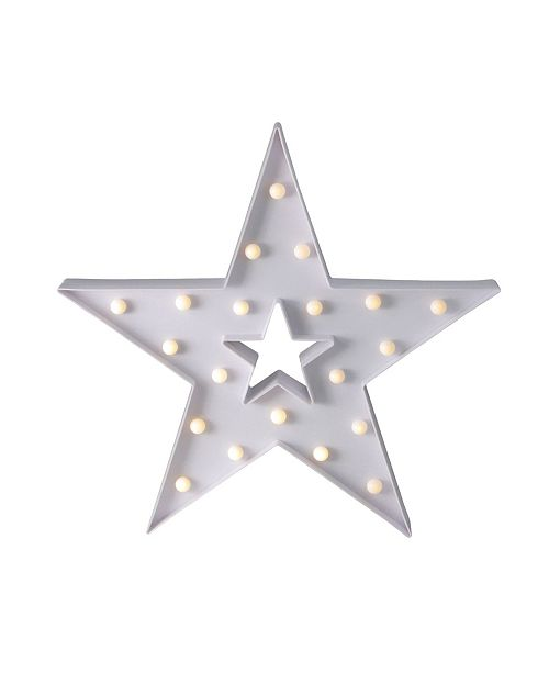 """Northlight 15"""" Battery Operated LED Lighted Star Christmas Marquee Sign"""
