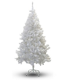 7' Crystal White Christmas Tree