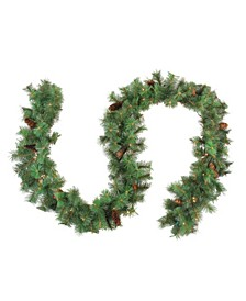 9' Pre-Lit Royal Oregon Pine Artificial Christmas Garland - Clear Lights