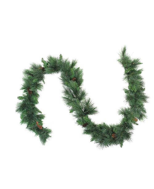 Northlight 9' White Valley Pine Artificial Christmas Garland - Unlit