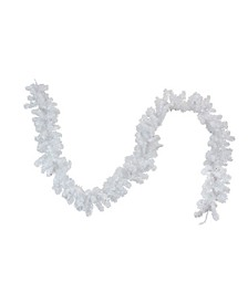 9' Battery Operated Pre-Lit LED White Artificial Christmas Garland - Multi Lights