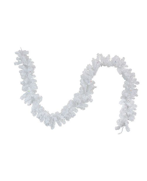 Northlight 9' Battery Operated Pre-Lit LED White Artificial Christmas Garland - Multi Lights