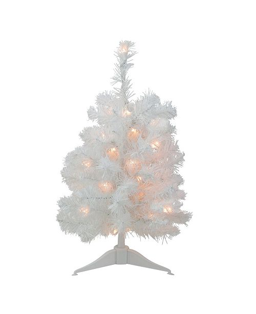 Northlight Pre-Lit Snow White Artificial Christmas Tree - Clear Lights