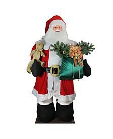 8' Huge LED Lighted Musical Inflatable Santa Claus Christmas Figure with Gift Bag