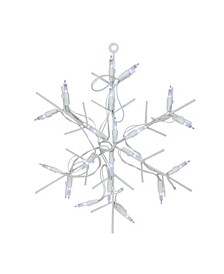 """12"""" Battery Operated LED Lighted Snowflake Christmas Window Silhouette with Timer"""