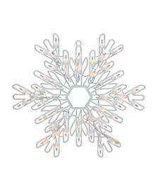 "15.25"" Lighted Snowflake Christmas Window Silhouette Decoration"