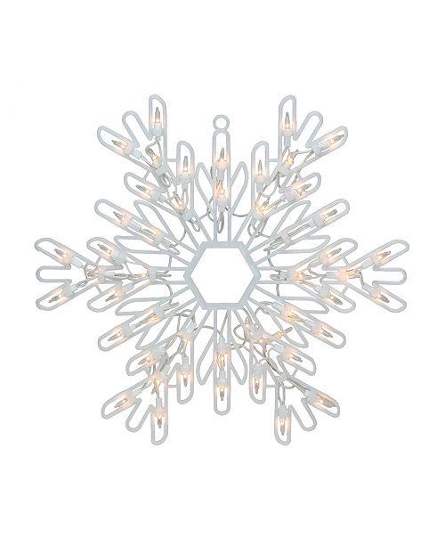 "Northlight 15.25"" Lighted Snowflake Christmas Window Silhouette Decoration"