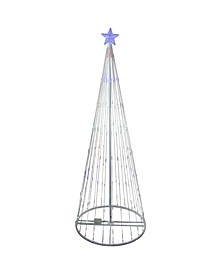 6' Multi-Color LED Lighted Show Cone Christmas Tree Outdoor Decoration