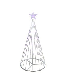 4' Purple LED Lighted Show Cone Christmas Tree Outdoor Decoration