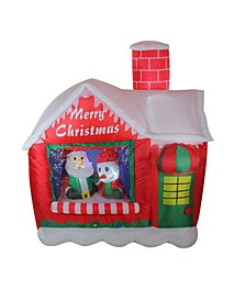 5.5' Inflatable Santa's Workshop Lighted Christmas Outdoor Decoration