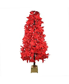 Pre-Lit Fiber Optic Color Changing Poinsettia Christmas Tree