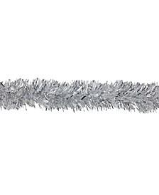 12' Soft Iridescent Silver Spiral Christmas Tinsel Garland - Unlit