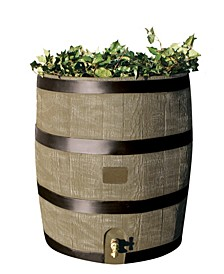 Round Rain Barrel with Planter
