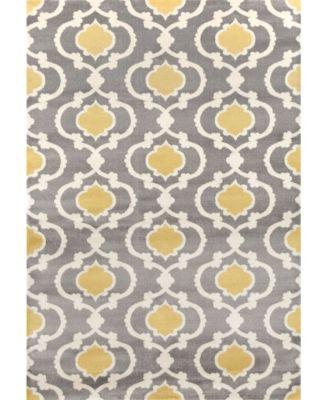 Alba Alb310 Gray/Yellow 9' x 12' Area Rug