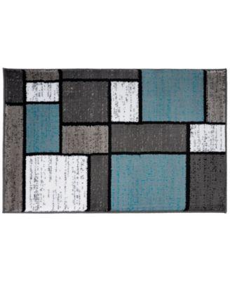 Montane Mon106 Blue 2' x 3' Area Rug