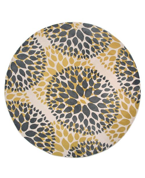 Home Haven Hav9099 Yellow 6 Round Area Rug
