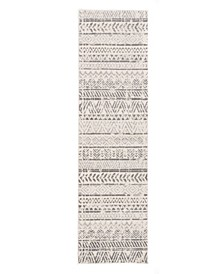 Home Lyon Lyn843 Gray 2' x 7' Runner Rug