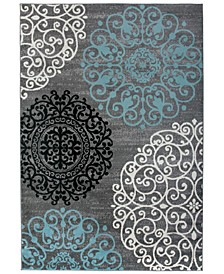 "Home Alba Alb303 Gray 6'6"" x 9' Area Rug"
