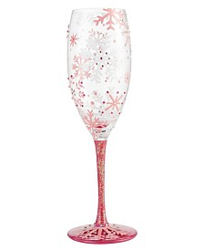 Enesco Lolita Prosecco Glass Blush Snowflake