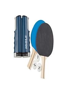 Essentials Variant Complete Table Tennis Set Includes Retractable Net, 2 Rackets 3 Balls