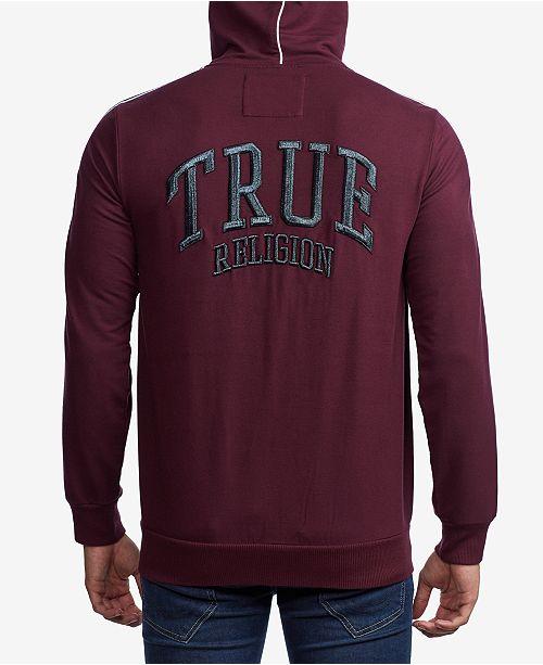 True Religion Men's Fashion Zip Up Hoodie