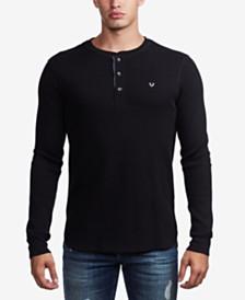 True Religion Men's Waffle Henley Shirt