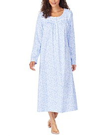 Cotton Jersey-Knit Printed Ballet Nightgown