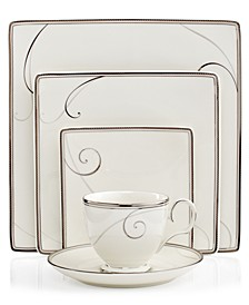 Dinnerware, Platinum Wave Square Collection