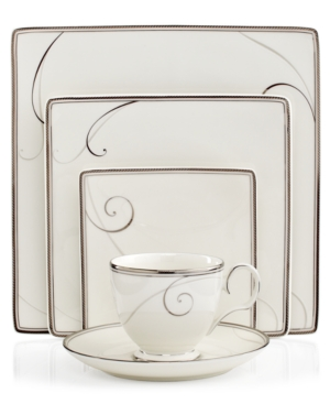 Noritake Dinnerware, Platinum Wave Square 5 Piece Place Sett