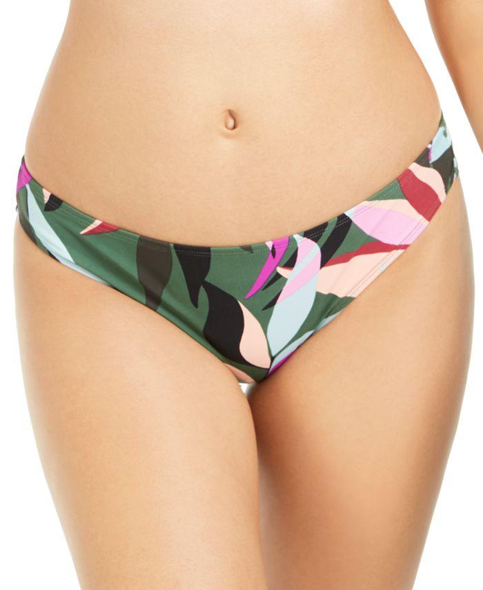 Hula Honey - Juniors' Hyper Tropics Printed Hipster Bikini Bottoms