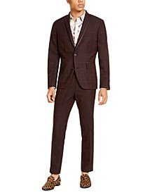 INC Men's Slim-Fit Windowpane Suit Separates, Created For Macy's