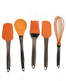Geminis Silicone 5-Pc. Tool Set, Orange
