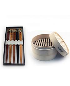 Bamboo 11-Pc Steamer & Chopstick Set