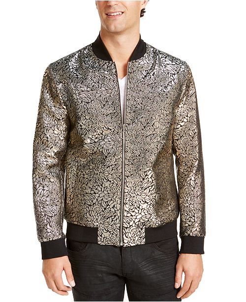 INC International Concepts I.N.C. Men's Oliver Party Brocade Bomber Jacket, Created For Macy's