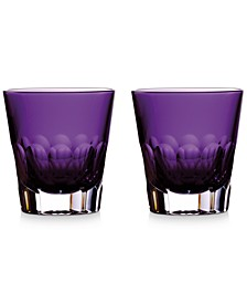 Jeff Leatham Icon Double Old Fashioned Amethyst Pair