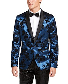 INC Men's Slim-Fit Flocked Satin Blazer, Created For Macy's