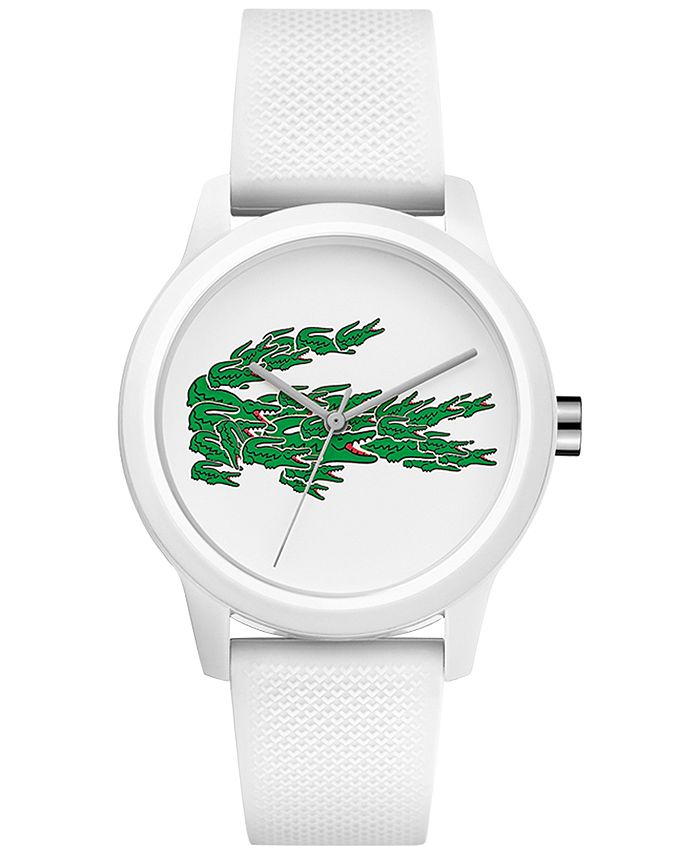Lacoste - Women's 12.12 White Silicone Strap Watch 36mm