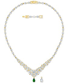 "Gold-Tone Crystal Interchangeable Pendant Necklace, 14"" + 1"" extender"